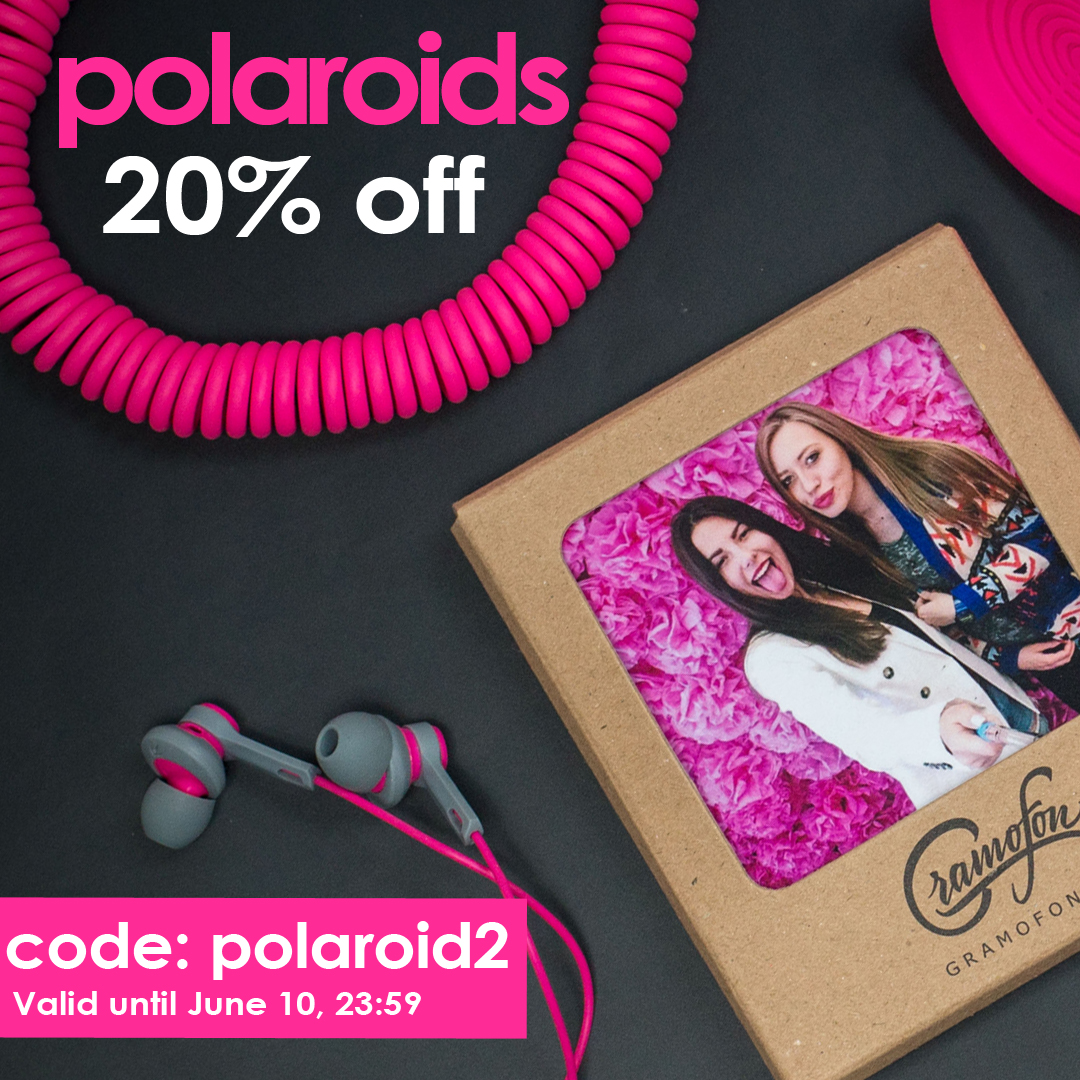 Get your Gift to Friends Day! 20% discount on polaroid