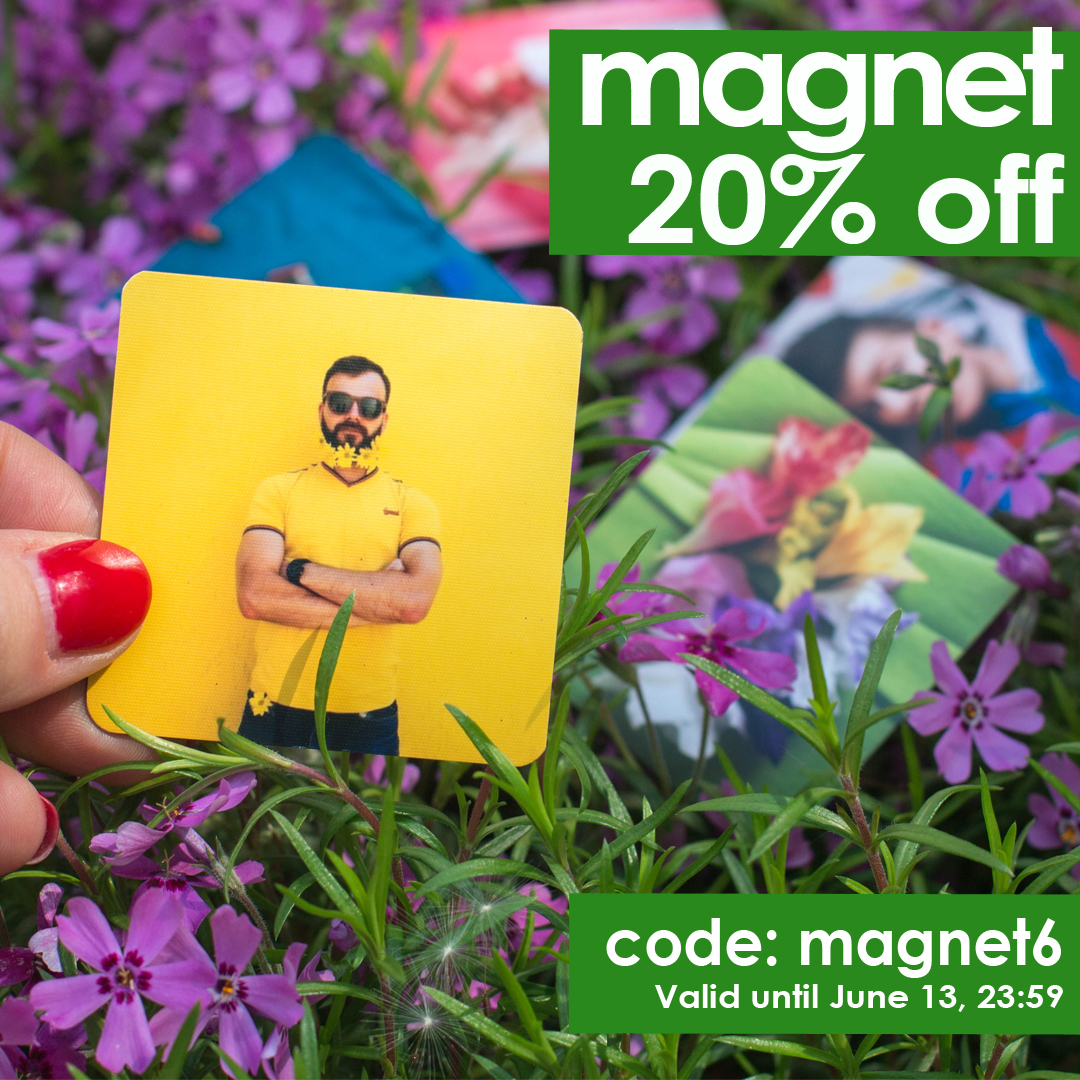 Photo magnets are 20% cheaper! Promotional code inside