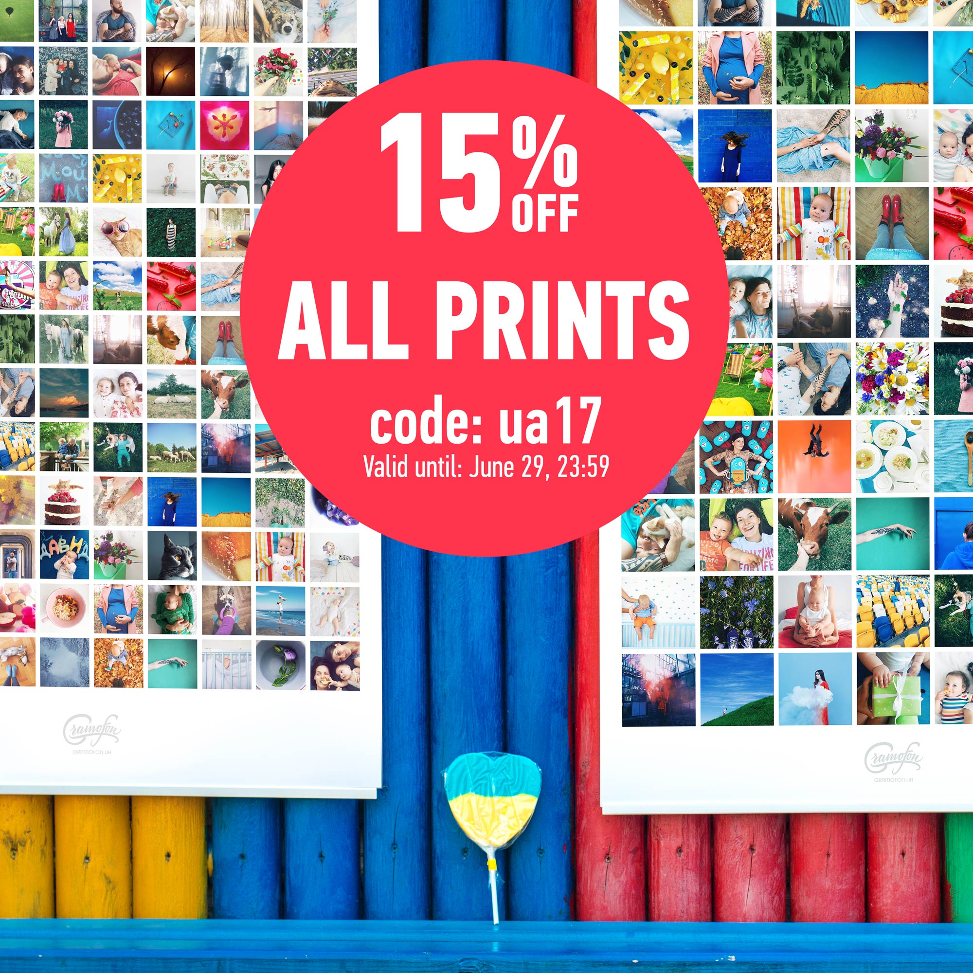 15% discount for all prints